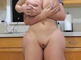 Big Ass Stepmom Fucks Her Stepson In The Kitchen